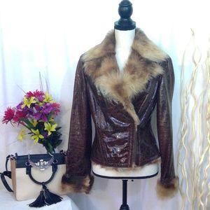 Cache Faux Fur Jacket